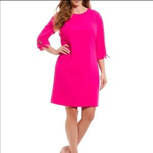 Cece quarter sleeve moss crepe shift dress